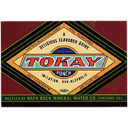 Vintage Tokay Punch Soda Bottle Label  - Colorful Paper Label