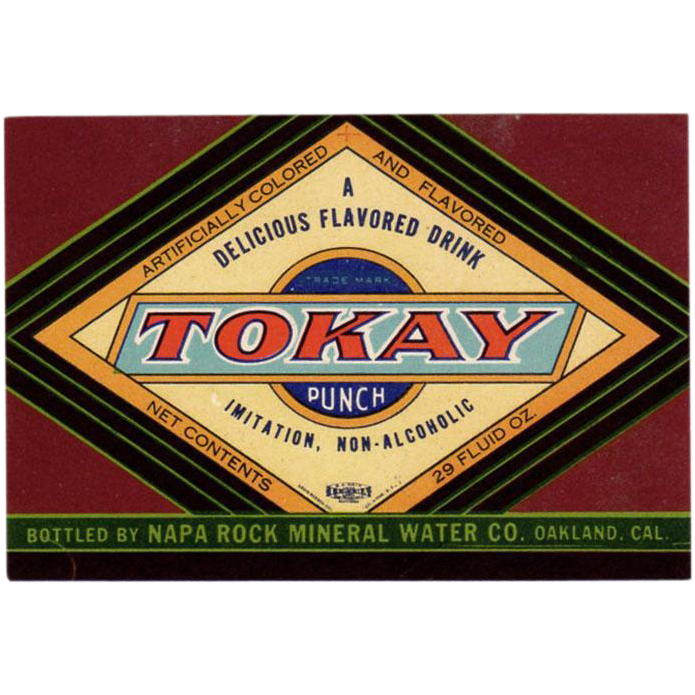 Vintage Tokay Punch Soda Bottle Label  - Colorful Paper Label