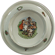 Vintage Baby Plate - Tiny Todkins Feeding Dish - May Day Celebration