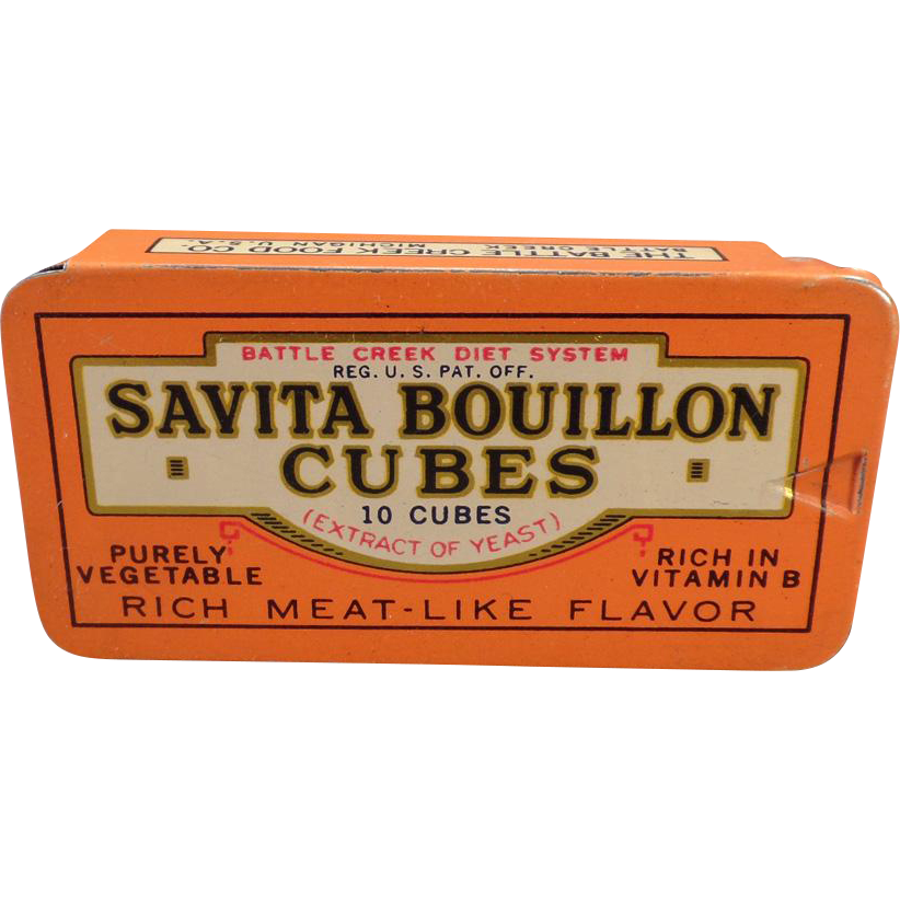 Vintage Savita Bouillion Cubes Tin – Battle Creek Food Co. Tin