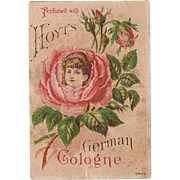 Vintage Trade Card - Hoyt Perfume Advertising with Pretty Image