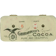 Vintage Celluloid Advertising - Ghirardelli's Cocoa - Celluloid Game Counter