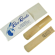 Two Vintage Bamboo Reeds - Rico Reeds with Original Package