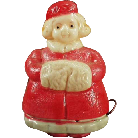Vintage Celluloid Tape Measure - Figural Tape Measure - Little Girl with Winter Muff