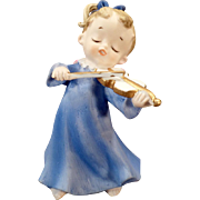 Vintage Porcelain Angel Figurine – Blue Angel with Violin