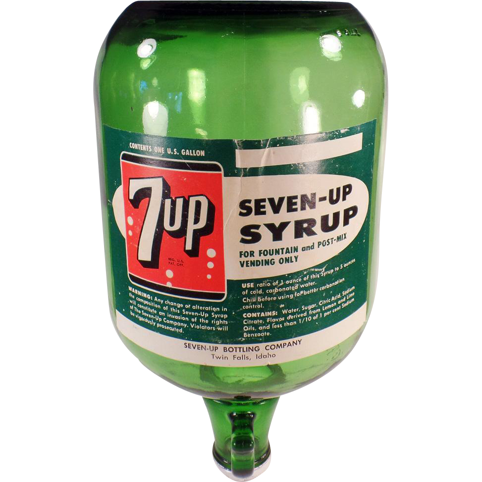 Vintage Seven-Up Soda Fountain Jug - 7-Up Fountain Dispensing Bottle