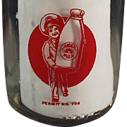 Vintage Milk Bottle - Half Pint Bottle w- Pyroglazed Advertising - Arden Farms
