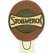 Vintage Celluloid Bookmark - Old Stollwerck Chocolate and Cocoa Advertising