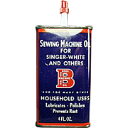 Vintage Oiler Tin - Bega Sewing Machine Oil Advertising Tin
