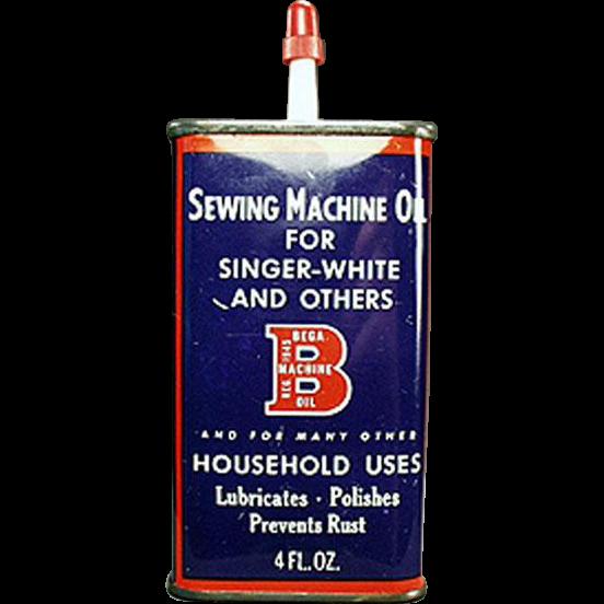 Vintage Oiler Tin - Bega Sewing Machine Oil Advertising Tin