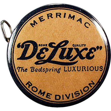 Vintage Celluloid Tape Measure - Old Advertising for DeLuxe Bedsprings