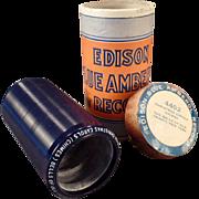 Vintage Edison Cylinder Phonograph Record – Blue Amberol – Christmas Carols