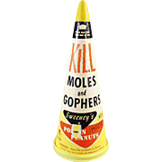 Vintage Sweeny's Mole and Gopher Poison Container