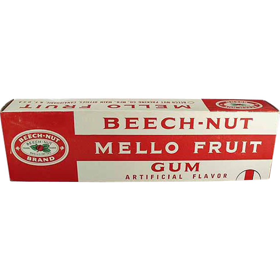 Vintage Beech Nut Gum Store Advertising Display - Large Beech-Nut Mello Fruit Gum Box