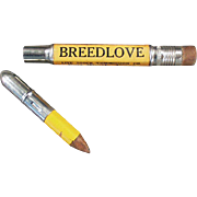 Vintage Bullet Style Advertising Pencil - Breedlove Live Stock Commission Co. Fort Worth Texas