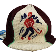 Child's Vintage Winter Hat - Knit Hat with Original Eton Glacier Paper Tag