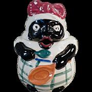 Vintage Black Memorabilia - Old Mammy Mustard or Jelly Condiment Jar