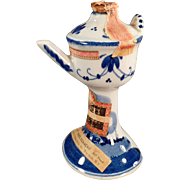 Vintage Delft Miniature - Liqueur Bottle - Pedestal Basin in Delft Blues