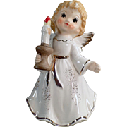 Vintage Porcelain Christmas Angel Holding a Candle