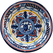 Vintage Pottery Dish - Sevilla - Colorful Little Accent Piece