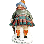 Vintage Porcelain  Schafer and Vater Whimsey - Mind Your Own Business Scotsman - S&V