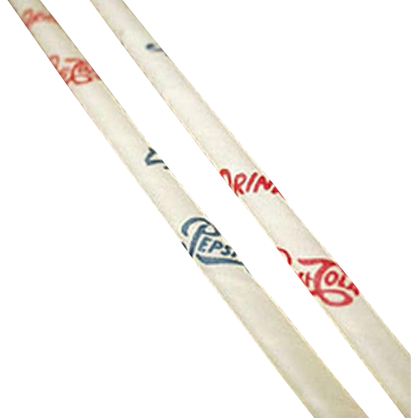 Vintage Pepsi Straws - Six Old Paper Straws with Pepsi Cola Advertising
