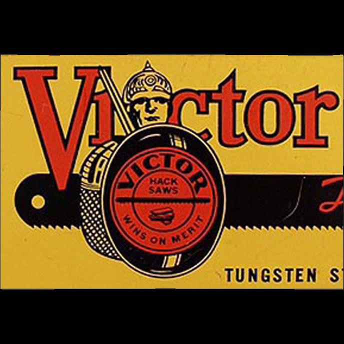 Vintage Tool Tin - Victor Hack Saws Hand Blades - 1937