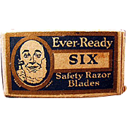 Vintage Ever-Ready Razor Blade Box with One Original Old Blade