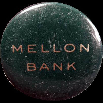 Vintage Celluloid Tape Measure - Old Advertising Tape Measure - Mellon Bank