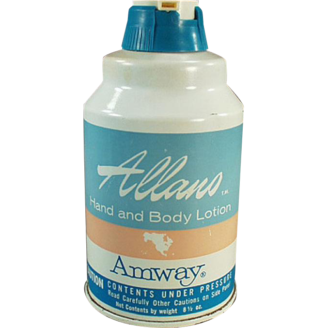 Vintage Amway Product - Old Amway Hand Lotion Tin - 1965