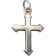 Vintage Silver Charm – Sterling Silver Cross – Small but Nicely Detailed