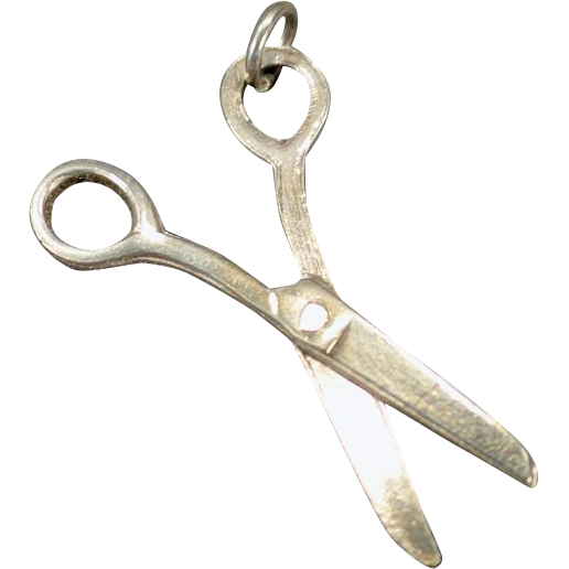 Vintage Silver Charm – Little Scissors that Move – Perfect for a Seamstress