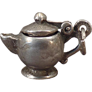 Vintage Silver Charm – I'm a Little Teapot Short and Stout with Moveable Lid