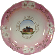 Vintage Souvenir Plate Bowl – Historical Sprague, Washington - High School Building