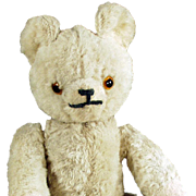 Vintage Mohair Teddy Bear - Jointed Stuffed Bear with Glass Eyes