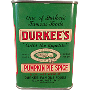 Vintage Spice Tin - Old Durkee's Pumpkin Pie Spice Tin