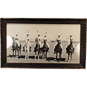 Vintage Sports Photograph – 1915 Horse Polo Team – S.F. Pan Pacific Int'l Exposition – Original Frame