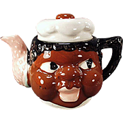 Vintage Black Memorabilia - Old Mammy Teapot from Japan