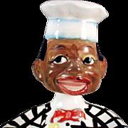 Vintage Spoon Rest with Black Chef Nodder Head - Old Black Memorabilia