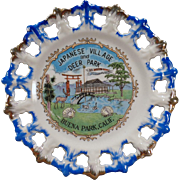 Vintage Souvenir Plate – Japanese Village and Deer Park of Buena Park, California