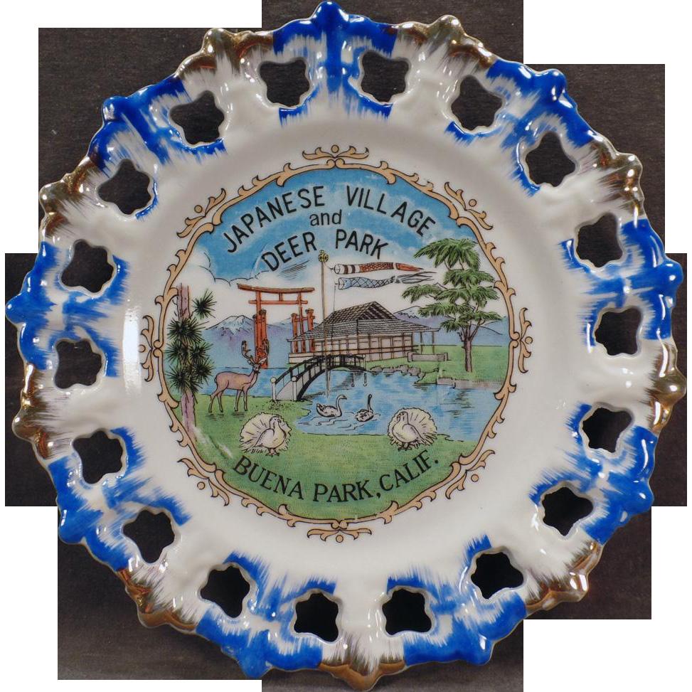 Vintage Souvenir Plate – Japanese Village and Deer Park of Buena Park, California