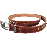 Vintage Roy Rogers Leather Belt with Buckle – Old Hickok Belt