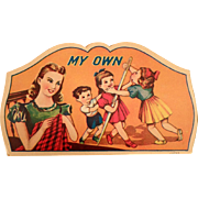 Colorful Vintage Sewing Needle Book – My Own Needle Packet with Children and Mom
