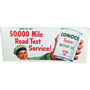 Vintage Montana Road Map – Old Conoco Motor Oil Advertising