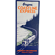 Vintage Map - Oregon Coastline Express Map - 1955 - Old Rand McNally Map