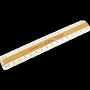 "Vintage Drafting Scale - Old Gramercy 6"" Flat - 4 Bevel Engineering Scale"