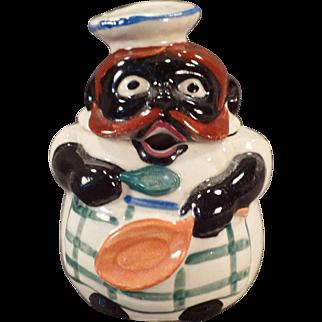 Vintage Black Memorabilia - Old Mustard or Jelly Condiment Jar
