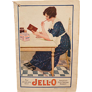 Vintage Jell-O Recipe Book -  Old Jello Advertising – For Economy Use Booklet