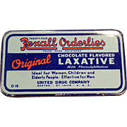 Vintage Rexall Laxative Tin – Old Orderlies Chocolate Laxative Medicine Tin