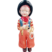 Vintage Celluloid Doll - Old Cowboy Doll Made in Japan - Great Colors